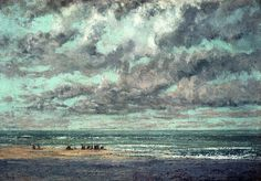 Gustave Courbet (French, Realism, 1819–1877): Marine - Les Equilleurs.