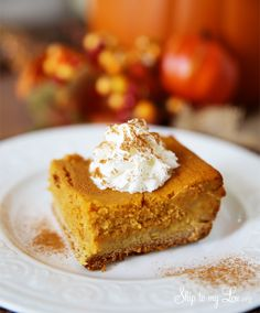 Pumpkin gooey butter cake. The best fall dessert recipe idea