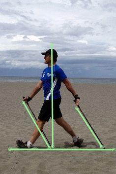 Posture from Nordic Walking Race Walking, Walking Poles, Power Walking, Trekking Quotes, Hiking Quotes, Nordic Walking Sticks, Marathon, Health Benefits Of Walking, Walking Exercise