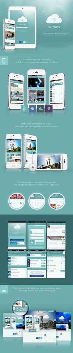 Ideas & Inspirations für Web Designs Vimies by Camille MORIZOT, via Behance Schweizer Webdesign http://www.swisswebwork.ch