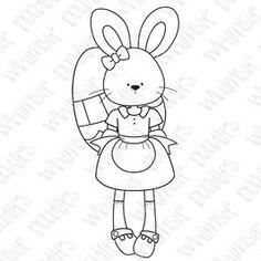 Easter digi bunny girl carrot spring egg hunt