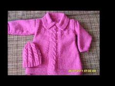 Rebeca de bebé ( chaqueta ) a ganchillo de 0 a 3 meses.( Parte 1 de 2) - YouTube