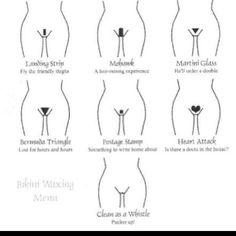 Bikini Wax Design Chart.. =)