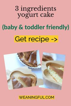 This no sugar cake is perfect for babies just starting solids and baby led weaning. They can hold it in their fists and munch away as it is very soft. Not to mention an easy, quick and nutritious meal for your baby, toddler or older child. Healthy Baby Food, Healthy Meals For Kids, Meals For One, Kids Meals, Baby Meals, Healthy Recipes, Baby First Foods, Baby Finger Foods, Toddler Meals