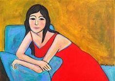 Original art for sale at UGallery.com   Vestido Rojo (Red Dress) by Maria Sanchez   $300   acrylic painting   http://www.ugallery.com/acrylic-painting-vestido-rojo-red-dress