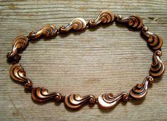 Renoir Necklace Art Nouveau Copper Necklace by TheCopperCat