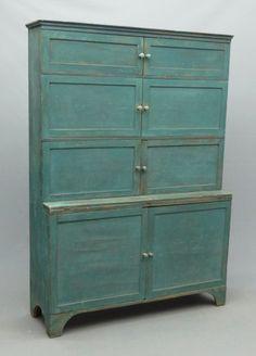 19th c. Six Door Cupboard copake auction
