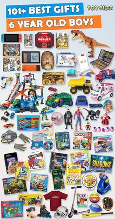 Gifts for 6 year old boys or girls for birthdays, Christmas, or any occasion. See the best toys for 6 year old boys. Tons of gift ideas for 6 year olds sorted by category. for teens Gifts For 6 Year Old Boys 2019 – List of Best Toys Unique Gifts For Kids, Gifts For Teen Boys, Birthday Gifts For Teens, Teen Birthday, Best Birthday Gifts, Kids Gifts, Unique Toys, Birthday Games, Birthday Crafts