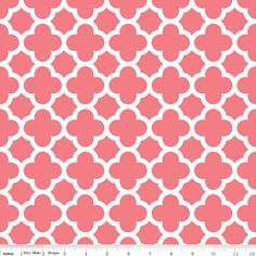 Ready to Ship-Changing Pad Cover in coral quatrefoil-10% off with coupon code sale10