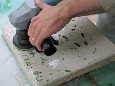 Concrete-bottle glass counter tutorial