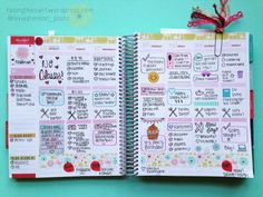 How I Plan in my Erin Condren ECLP Life Planner. I used a stencil!! Click to view how PRETTY this turned out!!