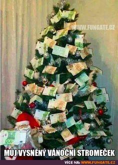 Můj vysněný vánoční stromeček Christmas Jokes, Last Christmas, Xmas, Money Trees, Christmas Jewelry, Illustrations, Kids Playing, Advent Calendar, Photos