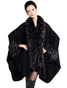 Zattcas� Women's Faux Fur Shawl Pashm…