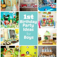 1st Birthday Party Ideas For Boys Baby Boy Parties