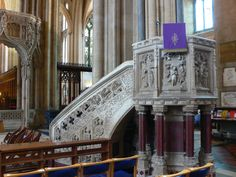 Bristol Cathedral pulpit