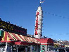 And Here's The Tower Of Pizza In Saugus, Massachusetts
