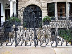 Gate and railing by Evan Lewis.