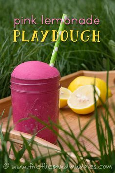 Welcome summer with fresh Pink Lemonade Playdough that smells like real lemonade!
