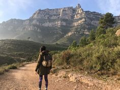 Hiking Montserrat Mountain, where we'll discover the best trails of the most famous mountain in Barcelona. Hiking Tours, Monument Valley, Trail, Barcelona, Walking, Mountain, Hiking, Woking