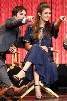 The Vampire Diaries Paleyfest 2014 Ian Somerhalder and Nina Dobrev #tvd