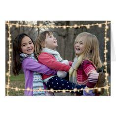 String Lights Merry Christmas Holiday Photo Card - merry christmas diy xmas present gift idea family holidays