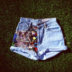 MARVEL Comics Panel Vintage High Waisted Denim Jean Shorts ALL Sizes Available $40