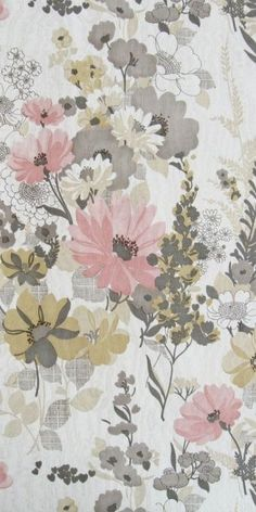 Pretty vintage floral wallpaper | Aurelia €59.00 per roll - probably wouldn't…