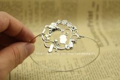 silver Alice in Wonderland bracelet