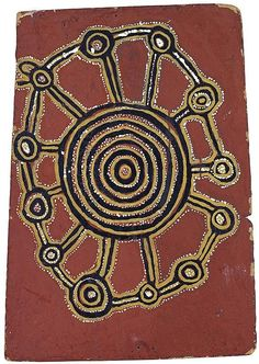 The Anthony & Beverly Knight Colection of Early Papunya Art | Important Aboriginal & Oceanic Art - Sothebys Australia: Lot 7: Tutuma Tjapangati circa 1909-1987 ONE OLD MAN'S DREAMING (1971) natural earth pigments and boncrete on composition board