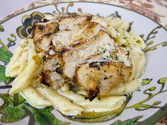 Plain Chicken blog - Grilled Cajun Ranch Chicken Pasta