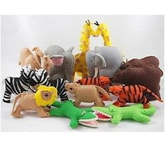 Download Noah's Ark Animals - Felt Toy Sewing Pattern | Toys & Activities Sewing Patterns for Download | YouCanMakeThis.com