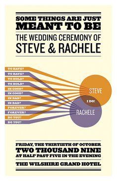 Rachele & Steve's 3D graphic design wedding