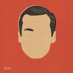 Don Draper - Mad Men Inspired Illustrations by n. b. #madmen #madmenfanart #fanart