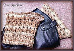 Amazing Grace Boot Cuffs Free Crochet Pattern by Beatrice Ryan Designs Crochet Boots, Crochet Gloves, Crochet Slippers, Knit Crochet, Crochet Headbands, Knit Headband, Tunisian Crochet, Baby Headbands, Crochet Stitches
