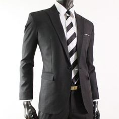 Mens luxury one button Dress suit. Fitted suits are def on my must have list!