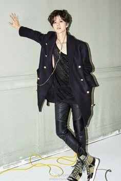 Lu Han || H&M photoshoot || Weibo