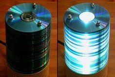 Reciclar Cds en una lámpara