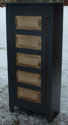 Paneled Door Jelly Cabinet