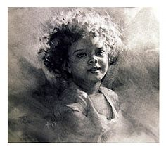 Angelic by Michael Maczuga Charcoal ~  x