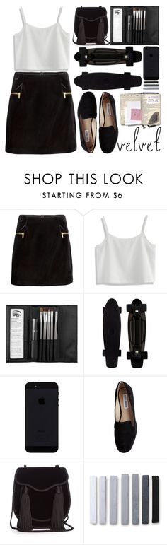 """Crushing It: Summer to Fall Velvet"" by aguniaaa ❤ liked on Polyvore featuring H&M, Chicwish, Sephora Collection, Steve Madden, Yves Saint Laurent and vintage"