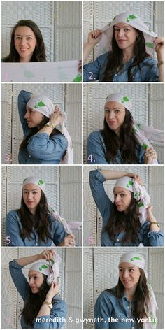 cool girls get cancer: how to wear a headscarf