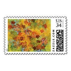 Autumn Grandeur Postcard Stamp