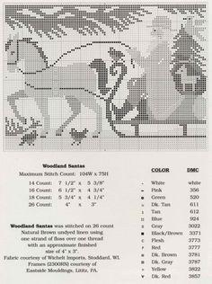 Woodland santa - Prairie Schooler one horse open sleigh cross stitch graph pattern Santa Cross Stitch, Just Cross Stitch, Cross Stitch Samplers, Cross Stitch Charts, Counted Cross Stitch Patterns, Cross Stitch Designs, Cross Stitching, Cross Stitch Embroidery, Vintage Embroidery