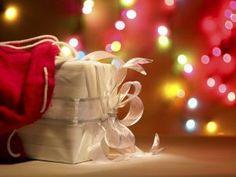 Luces y regalo de Navidad