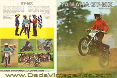1973 Yamaha GT-MX 80 Mini-Cross Original Brochure