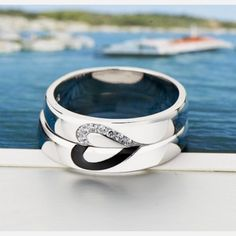 Love Design 925 Sterling Silver Promise Ring for Couples