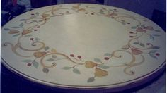 """Pears"" Painted Table Top"