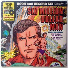 1977 SIX MILLION DOLLAR MAN READ ALONG BOOK /& LP Record