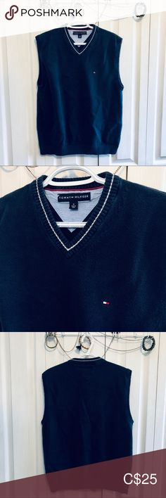 Tommy Hilfiger Sweater Vest Navy Mens M EUC In perfect condition. No imperfections. Mens Size Medium Navy Color All items are shipped same or next day. 5 star seller Tommy Hilfiger Sweaters V-Neck Tommy Hilfiger Sweater, Navy Color, Plus Fashion, Fashion Tips, Fashion Trends, Men Sweater, Vest, Man Shop, Crop Tops