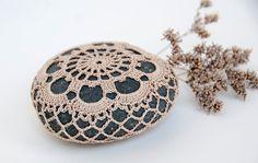 crochet lace stone